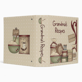 "Grandma's Recipe Book Binder 2"""