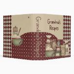 "Grandma's Recipes 2"" (Recipe Binder)"