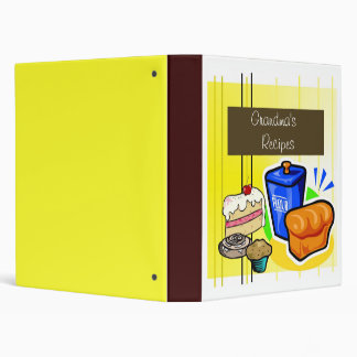 Grandma's  Recipes 3 Ring Binder