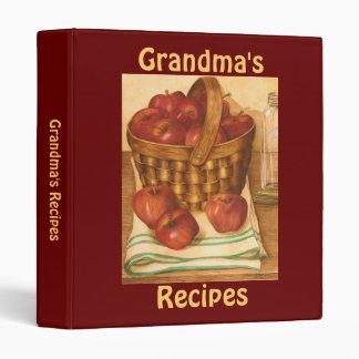 Grandma's Recipes - Binder Binders