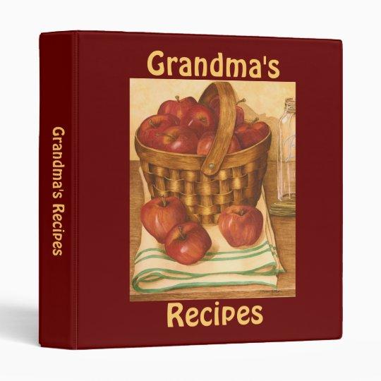 Grandma's Recipes - Binder