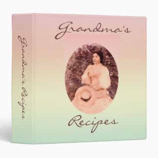 Grandmas Recipes Binders