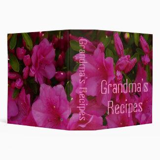 Grandma's Recipes Binder With Azaleas