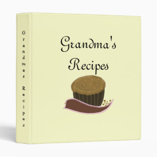 Grandma's Recipes - Chocolate Cupcakes Binder