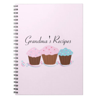 Grandma's Recipes - Frosted Cupcakes Note Book