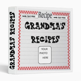 Grandma's Recipes Photo Binder