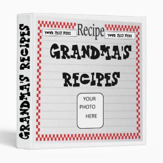 Grandma's Recipes Photo Binder