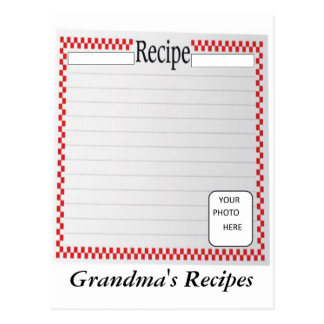 Grandma's Recipes Photo Card