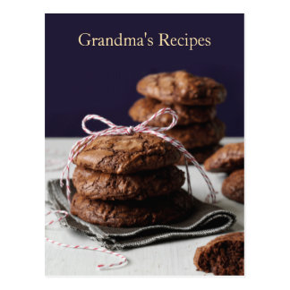 Grandma's Recipes Postcard