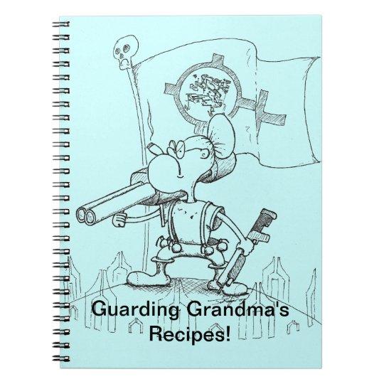 Grandmas Recipes Spiral Notebook