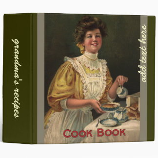 Grandma's recipes, Vintage cook book cover Binder