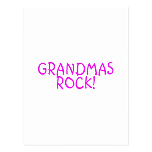 Grandmas Rock Pink Postcard