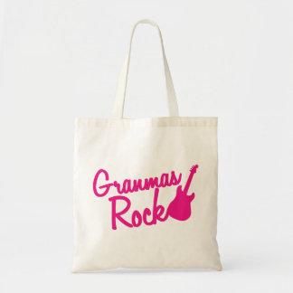 grandmas rock! with guitar tote bag