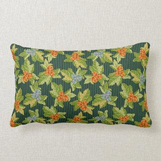Grandma's Roses Meet Funky Folk Art Lumbar Pillow