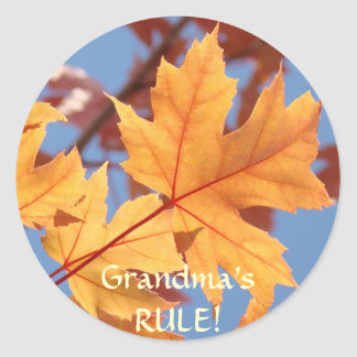 Grandma's RULE! Stickers Autumn Leaves Stickers