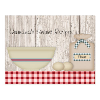 Grandma's Secret Recipes Recipe Card