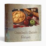 Grandma's secret recipes vinyl binder