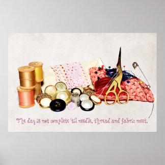 Grandma's Sewing Box Poster