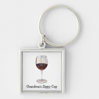 Grandma's Sippy Cup (customizable) Keychain