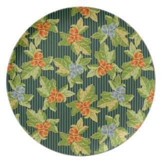 Grandma's Sofa Meets Funky Folk Art Party Plates