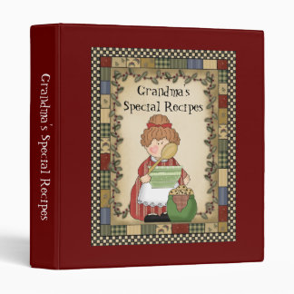 Grandma's Special Recipes Cartoon Kitchen Binder