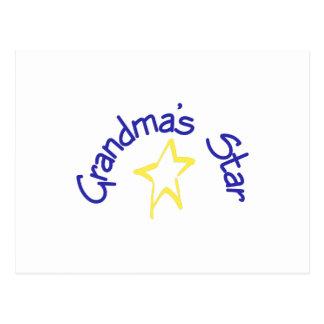 Grandma's Star Postcard