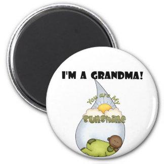 Grandma's Sunshine-African American Boy Magnet