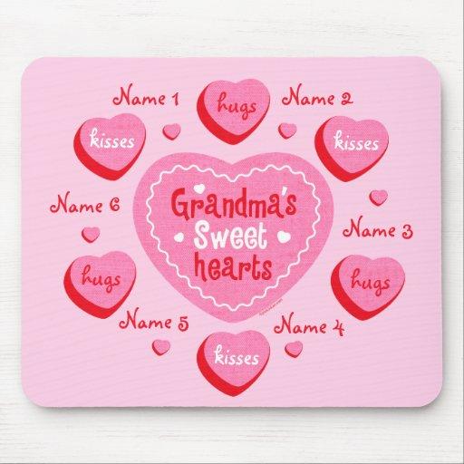Grandma's Sweethearts Personalized Mousepad