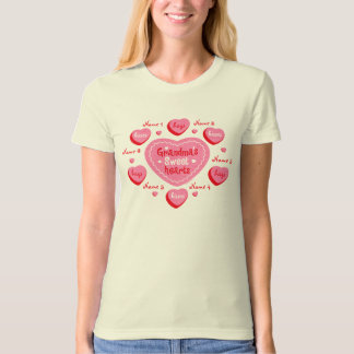 Grandma's Sweethearts Personalized Organic T-Shirt