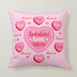 Grandma's Sweethearts Personalized Pillow
