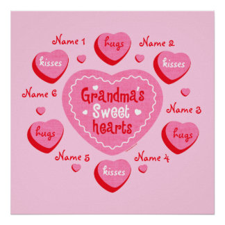 Grandma's Sweethearts Personalized Poster
