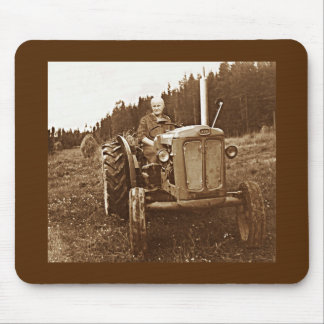 Grandma's tractor mouse pad