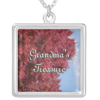 Grandmas Treasure Sterling Silver Square Necklace