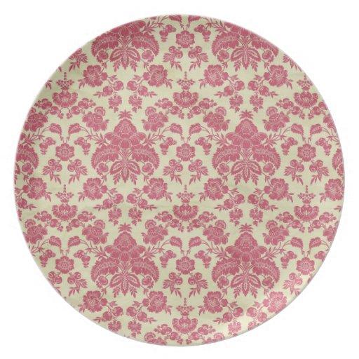 Grandmas Vintage damask pattern Dinner Plate