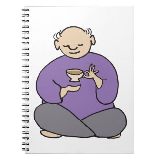 Grandmaster of the Tea Kettle Fred Spiral Notebook