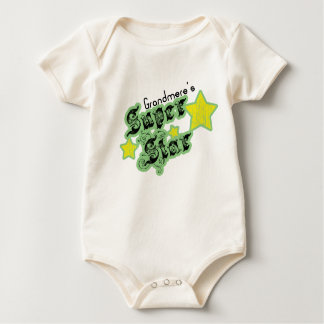 Grandmere's Super Star Baby Bodysuit