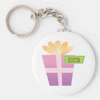 Grandmom's Favorite Gift Keychain