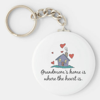 Grandmom's Home is Where the Heart is Keychain