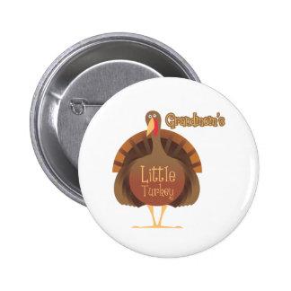 Grandmom's Little Turkey Pinback Button