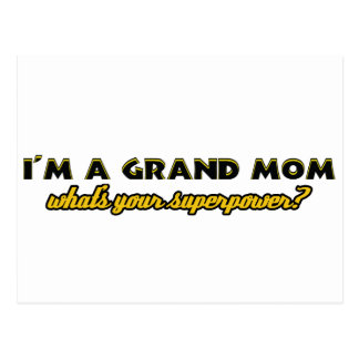Grandmom designs postcard
