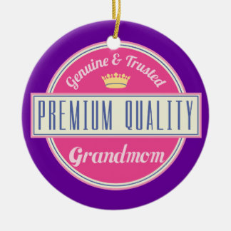 Grandmom (Funny) Gift Double-Sided Ceramic Round Christmas Ornament