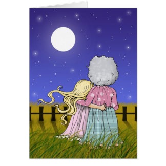 Grandmother and Granddaughter Card