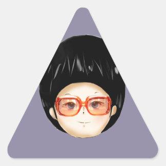 Grandmother animation triangle sticker