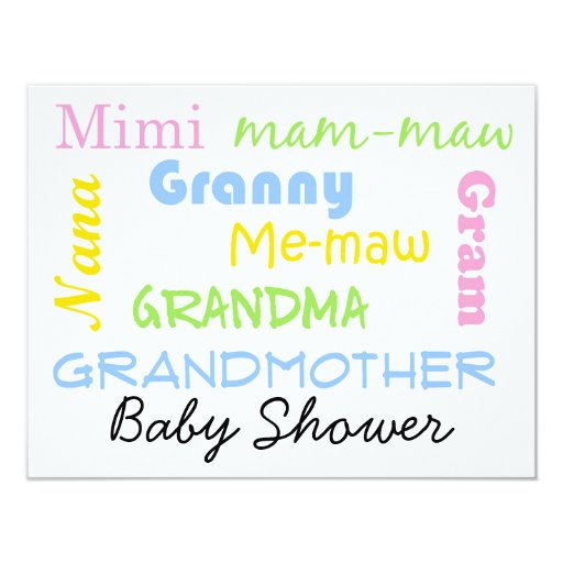 Baby Shower Gifts For Grandma ~ Grandmother baby shower invitation zazzle