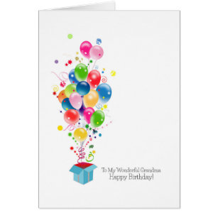 Grandmother birthday cards greeting photo cards zazzle grandmother birthday cards colorful balloons bookmarktalkfo Image collections