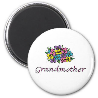 Grandmother Blooms2 2 Inch Round Magnet