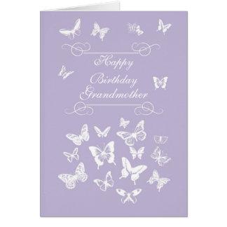 Grandmother Butterflies Birthday Irish Blessing Card