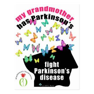 Grandmother - butterflies parkinson awareness postcard