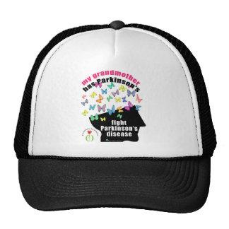 Grandmother - butterflies parkinson awareness trucker hat