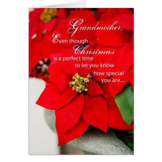 Grandmother Christmas Poinsettia Card